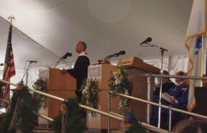 A commencement speaker