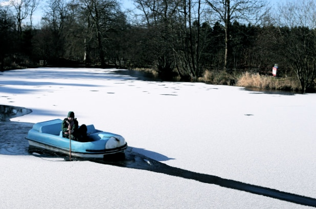 Break ice, pedal boat style